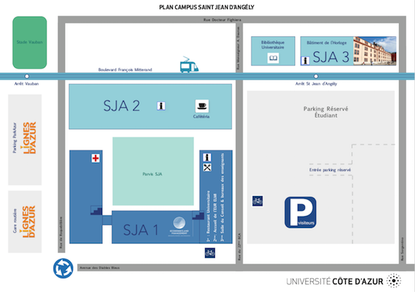 Plan du Parking SJA